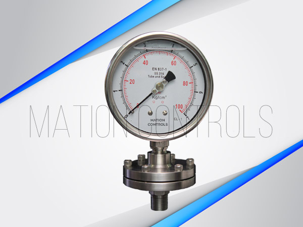 Diaphragm-Sealed-Pressure-Gauge